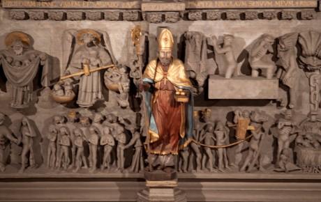 La cathédrale, portail occidental, tympan (détail)