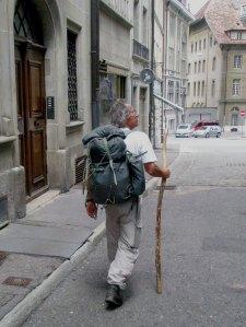 Georges Luchsinger en route vers la Cathédrale