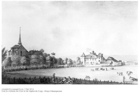 Cugy, église et château