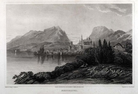 Neuchâtel vers 1820