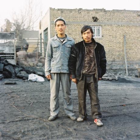 Young Uyghur men. Hotan, Xinjiang, China 2012.