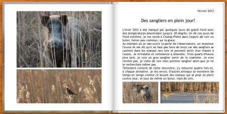Une double page du livre de Gilles Hauser