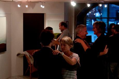 Initiation au Tango à la galerie/Photo Luca Barbieri