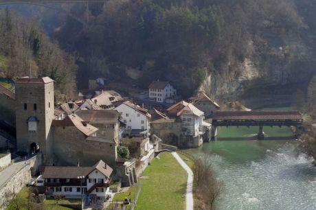 Fribourg après 5 heures de marche