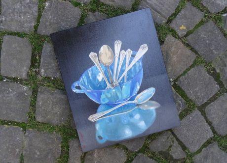 Catherine Gobat offre une peinture