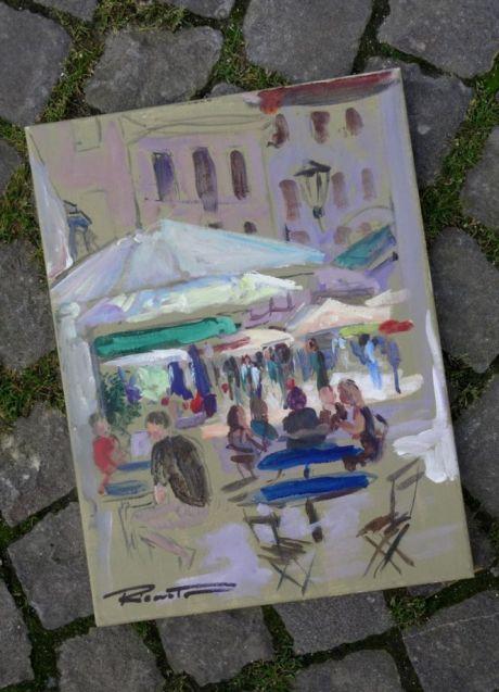 Ricarto Tavares offre une peinture