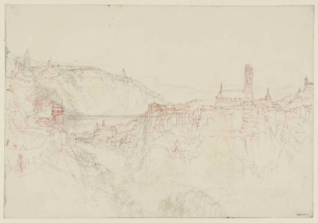 William Turner,View of Fribourg circa 1841